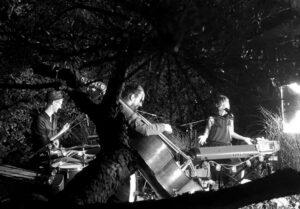"""Konzert des Jazz Trio """"Luumu"""" mit Sängerin, Pianistin und Komponistin Adina Friis, Simon Iten am Kontrabass und Andy Schelker am Schlagzeug."""